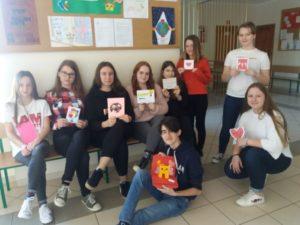 Wymiana kartek z uczniami ze szkoły w USA